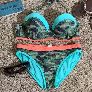 Camo and Neon Bikini